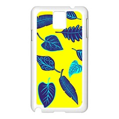 Leaves Leaf Samsung Galaxy Note 3 N9005 Case (white)