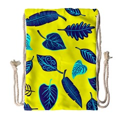 Leaves Leaf Drawstring Bag (large)