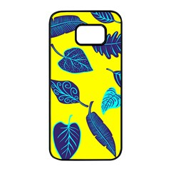 Leaves Leaf Samsung Galaxy S7 Edge Black Seamless Case