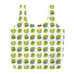 St Patricks Day Background Symbols Full Print Recycle Bag (l)