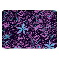 Stamping Pattern Leaves Purple Samsung Galaxy Tab 8 9  P7300 Flip Case