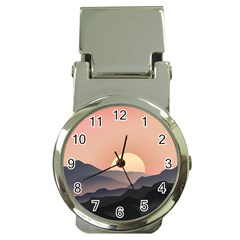 Sunset Sky Sun Graphics Money Clip Watches