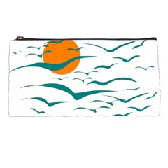Sunset Glow Sun Birds Flying Pencil Cases