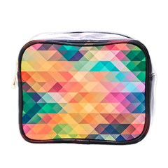Texture Triangle Mini Toiletries Bag (one Side)