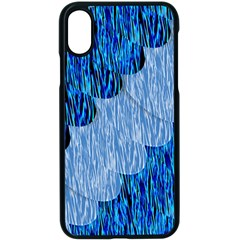 Texture Surface Blue Shapes Apple Iphone Xs Seamless Case (black)