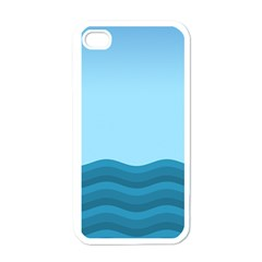 Making Waves Apple Iphone 4 Case (white) by WensdaiAmbrose