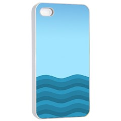 Making Waves Apple Iphone 4/4s Seamless Case (white) by WensdaiAddamns
