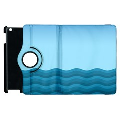 Making Waves Apple Ipad 2 Flip 360 Case by WensdaiAddamns