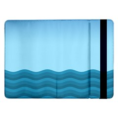 Making Waves Samsung Galaxy Tab Pro 12 2  Flip Case by WensdaiAddamns