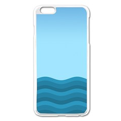 Making Waves Apple Iphone 6 Plus/6s Plus Enamel White Case by WensdaiAddamns