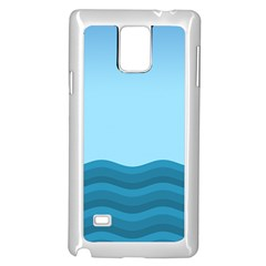 Making Waves Samsung Galaxy Note 4 Case (white) by WensdaiAddamns