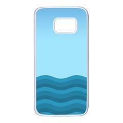 Making Waves Samsung Galaxy S7 White Seamless Case by WensdaiAmbrose