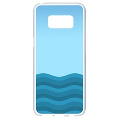Making Waves Samsung Galaxy S8 White Seamless Case by WensdaiAddamns