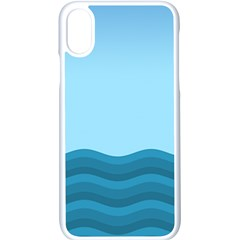 Making Waves Apple Iphone X Seamless Case (white) by WensdaiAmbrose