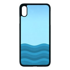 Making Waves Apple Iphone Xs Max Seamless Case (black)