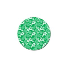 Colorful Tropical Hibiscus Pattern Golf Ball Marker by tarastyle