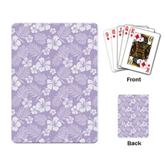 Colorful Tropical Hibiscus Pattern Playing Cards Single Design