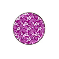 Colorful Tropical Hibiscus Pattern Hat Clip Ball Marker (4 Pack) by tarastyle