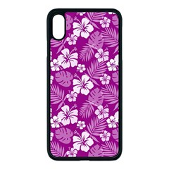 Colorful Tropical Hibiscus Pattern Apple Iphone Xs Max Seamless Case (black) by tarastyle