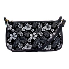 Colorful Tropical Hibiscus Pattern Shoulder Clutch Bag by tarastyle