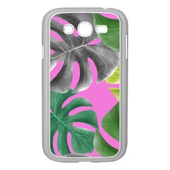 Tropical Greens Pink Leaf Samsung Galaxy Grand Duos I9082 Case (white)