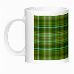 Vintage Green Plaid Night Luminous Mugs
