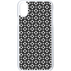 Imagine Paint Black White Apple Iphone Xs Seamless Case (white)