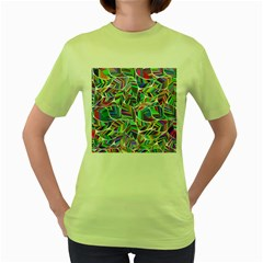 Leaves Leaf Nature Ecological Women s Green T Shirt