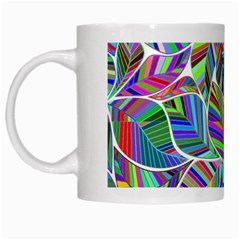 Leaves Leaf Nature Ecological White Mugs by Mariart