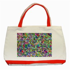 Leaves Leaf Nature Ecological Classic Tote Bag (red)
