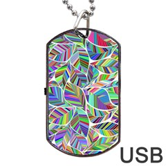 Leaves Leaf Nature Ecological Dog Tag Usb Flash (one Side)