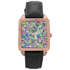 Leaves Leaf Nature Ecological Rose Gold Leather Watch