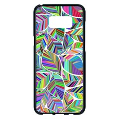 Leaves Leaf Nature Ecological Samsung Galaxy S8 Plus Black Seamless Case