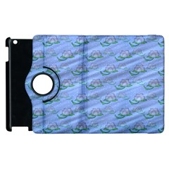 Waterlily Lotus Flower Pattern Lily Apple Ipad 3/4 Flip 360 Case