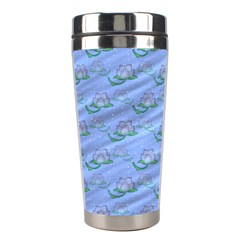 Waterlily Lotus Flower Pattern Lily Stainless Steel Travel Tumblers