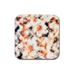 Multicolored Blur Abstract Texture Rubber Coaster (square)  by dflcprintsclothing