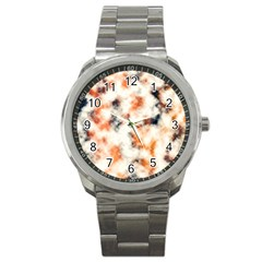 Multicolored Blur Abstract Texture Sport Metal Watch by dflcprintsclothing