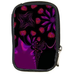 Background Red Purple Black Color Compact Camera Leather Case