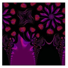 Background Red Purple Black Color Large Satin Scarf (square)