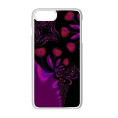 Background Red Purple Black Color Apple Iphone 8 Plus Seamless Case (white)