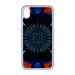 Ornament Fractal Pattern Background Apple Iphone Xr Seamless Case (white)
