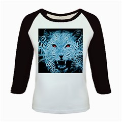Animals Leopard Fractal Photoshop Kids Baseball Jerseys