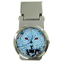 Animals Leopard Fractal Photoshop Money Clip Watches