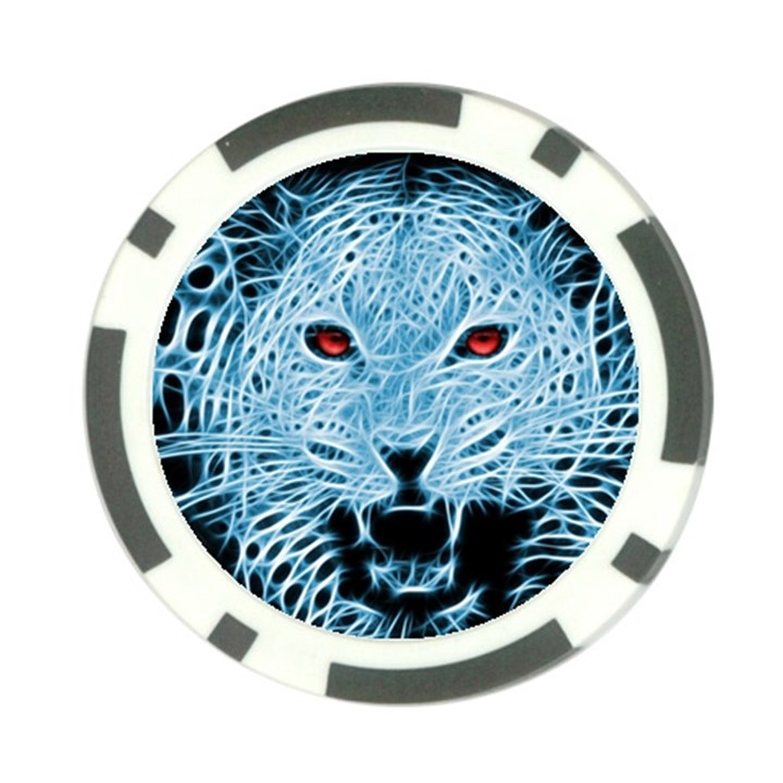 Animals Leopard Fractal Photoshop Poker Chip Card Guard