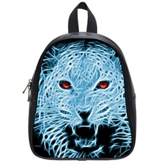 Animals Leopard Fractal Photoshop School Bag (small)