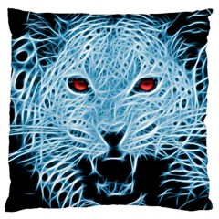 Animals Leopard Fractal Photoshop Large Cushion Case (two Sides)