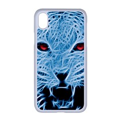 Animals Leopard Fractal Photoshop Apple Iphone Xr Seamless Case (white)