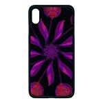 Background Purple Black Red Apple iPhone XS Max Seamless Case (Black) Front