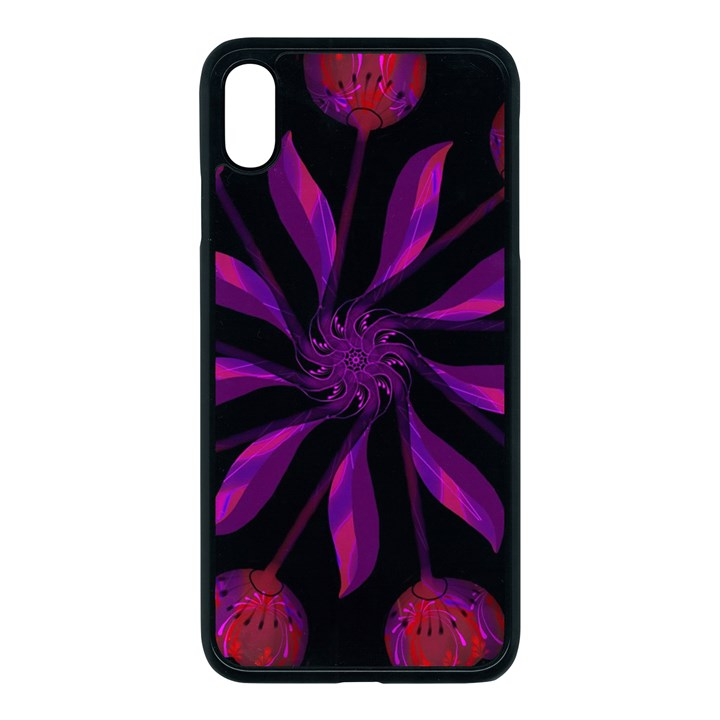 Background Purple Black Red Apple iPhone XS Max Seamless Case (Black)