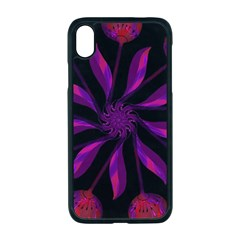 Background Purple Black Red Apple Iphone Xr Seamless Case (black)